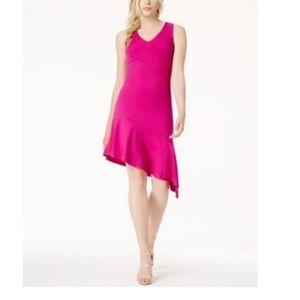 Bar III Sleeveless Ruffle Hem Body Party Dress